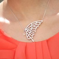 Zircon rhinestone bow  female short brief design small pendant accessories honey gift