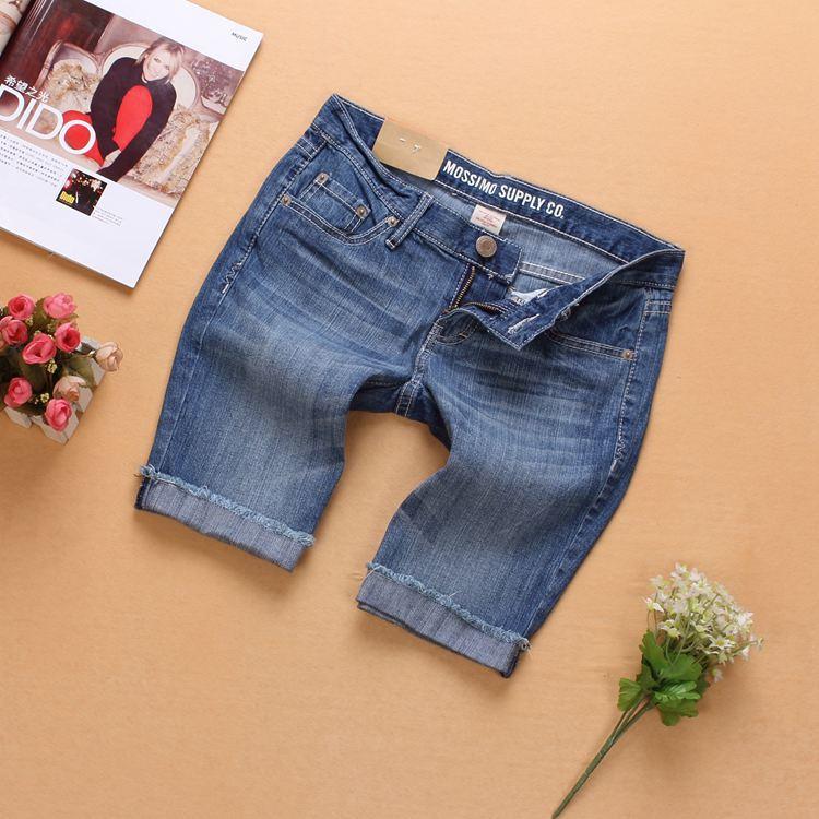 летней женской моды mossimo колен Капри