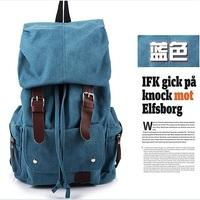New women's backpack vintage canvas school bag