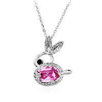 925 pure silver female  austria crystal zircon pendant accessories day gift