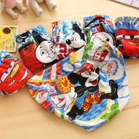 Free shipping 6 pcs / lot wholesale cartoon underwear children 's underwear boys cotton briefs