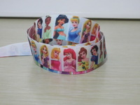 "5/8"" 16mm FOE Princess Fold Over Elastic Ribbon for hair ribbon bows garments DIY Accessory LOGO printed Custom Ribbon"