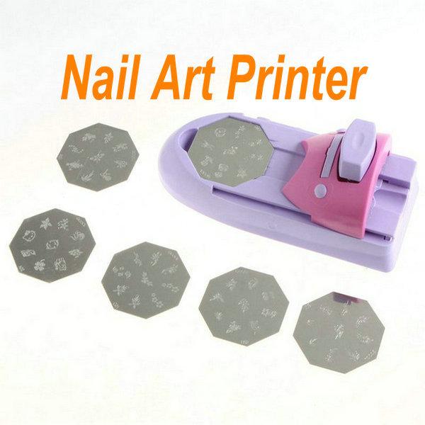 DIY Nail Art Printer Nail Decorating With 6 Pattern Palettes Polish Printing Stamping Machine(China (Mainland))