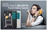 Keva battery leather case for samusng galaxy note3 note 3 n9000 n9002 n9006 N9009 N9008 2900mAh