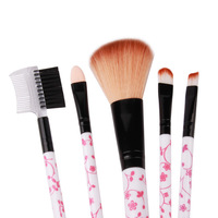 mix 5pcs makeup brushes set Kabuki Kit High quality Professional make up brush set Foundation eye shadow Cosmetic Brushes Tool