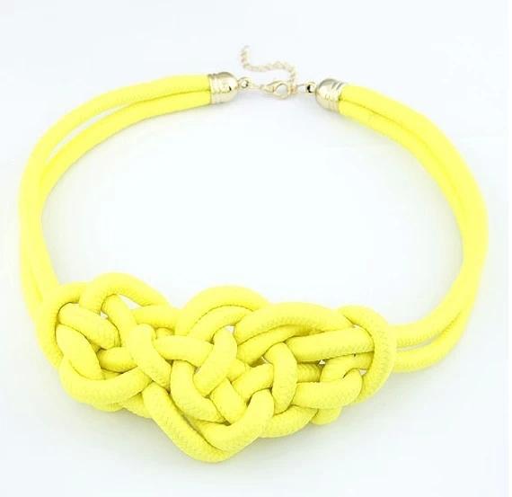 new 2014 fashion necklaces & pendants costume items neon chunky choker statement set necklace women jewelry Cheap Gift(China (Mainland))