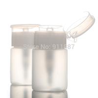 Professional 2PCS Plastic Nail Art Pump Polish Remover Acetone Dispenser Spray Bottle Container Kits