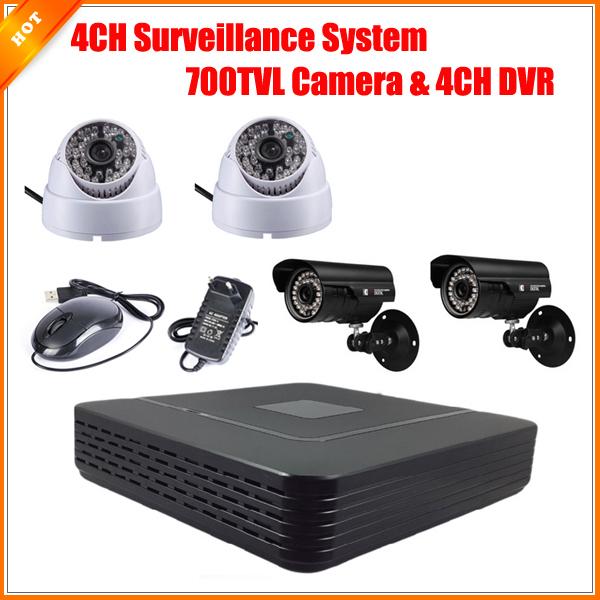 CCTV 4CH Full D1 P2P HDMI H. 264 Mini DVR Video Surveillance System Security System HD CMOS 700TVL IR Camera Kit(China (Mainland))