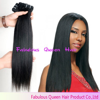 "6 Bundles Lot Queen Weave Beauty Brazilian Straight, Cabelo Humao Remy Hair, Free Shipping 12""-26"" Peruvian Virgin Hair Straight"