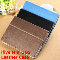 "Original Leather Case for FNF Ifive Mini 3GS 7.85"" Octa Core Android 4.4 3G Tablet PC Phone Call high quality Free shipping"
