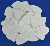100 pcs new medium 0.71mm Blank guitar picks Solid White No Print