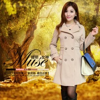 Trench outerwear women's 2013 autumn and winter slim medium-long women's casual overcoat