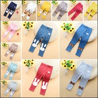 2014 new baby girls leggins 100% cotton autumn female children pants brand trousers shipping