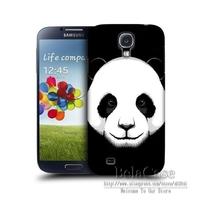 For Samsung Galaxy S4 i9500 3D painting Panda Fox Orangutan Tiger Plastic Hard Back Skin Protective Mobile Phone Bags Cases