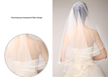 Free Shipping White Veils Tulle Wedding Veils Fashion Cathedral Bridal Veils(China (Mainland))