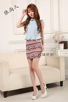 Female bust A word skirt retro floral skirt [240462]
