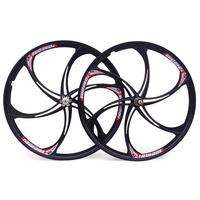 magnesium alloy bearing 26 mountain wheels one piece wheel cassette disc wheels