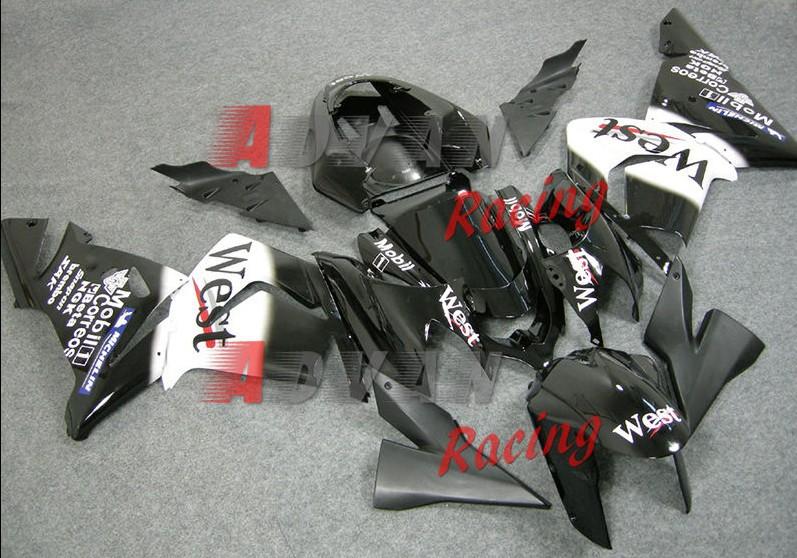 NEW HOT Black Decals Injection Fairings Bodywork Set kit Kawasaki Ninja ZX10R 2003-2005 0169(China (Mainland))