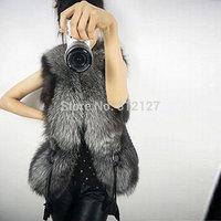 2014 jaqueta de couro feminina vestidos femininos new design womens warm jacket faux fur leather vest outerwear coat waistcoat