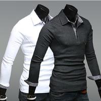 2014 Autumn Mens Long Sleeve Polo Shirt Comfortable For Polo Shirt Men
