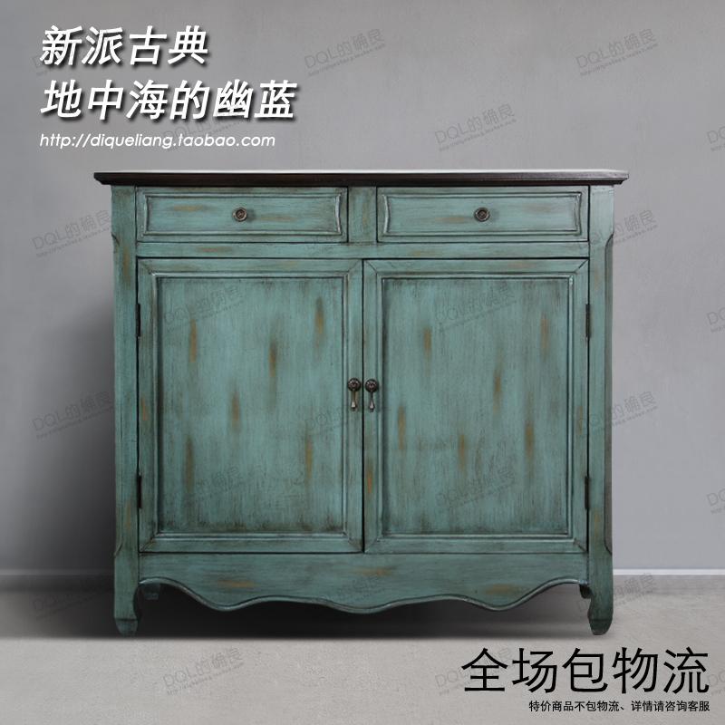 Simple creative Mediterranean Sideboard rural England entrance wall cabinets American retro shoe storage furniture wood(China (Mainland))