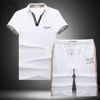 Free shipping guchi men 2014 new sport suit sportswear fashion T shirt men's suits and pants