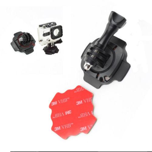 Штативная головка 1 X 360 GoPro HERO 3 + 1 2 3 three dimensional adjustable helmet side mount for gopro hero 3 3 2 1 black