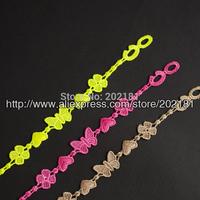 Free shipping 2014 Lucky clover bracelet 100% High Quality muti-color Butterfly bracelet Italy lace bracelet Heart bracelet