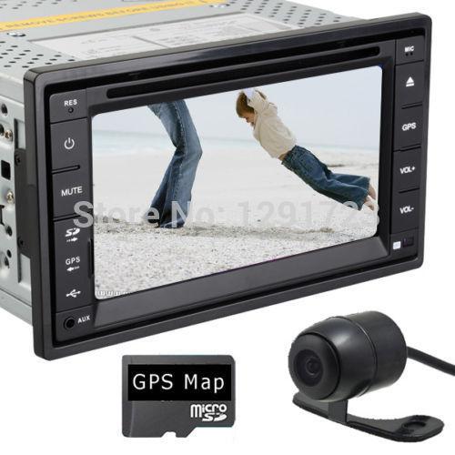 6.2 Inch Double Din Car DVD Player Sat Nav GPS Navigation In Deck 3G Wifi Autoradio BT IPOD DVB-T Head Unit +Camera(China (Mainland))