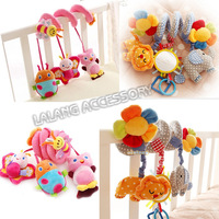 2014 New 1Set Baby Toys infant crib revolves around the bed stroller playing toy car lathe hanging baby rattles Mobile 672400