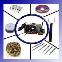 3 in 1 220V 800W YIHUA 853D SMD Rework Soldering Station+ Hot Air Gun + 15V 1 A Regulated Power Supply Better Saike 909D