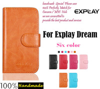 In Stock!Ultra-thin Phone Holster Flip Leather Case For Explay Dream Magnetic Button Minimalist Style Protective Cover