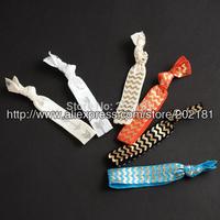 Optional colors 20pcs/lot Ribbon Elastics Hair Bands-Girls Hair Accessories Emi Jay Like Elastic Yoga Leopard Hair Ties