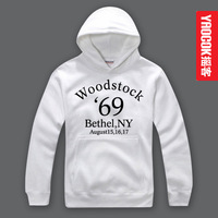 YAOCOK Woodstock  personality Pure cotton hooded hoodie