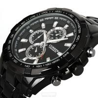 Curren quartz stainless steel Black Vogue Business Man Men's watch 3ATM waterproof Dropship Hot sale Relogio