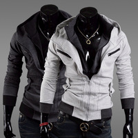2014 Autumn Men Fashion Hooded Cardigan Jacket Long Sleeve Brushed Hoody Coat Men Hoodies