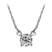 925 pure silver austria crystal zircon  Women silver pendant  bride gift