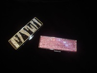 2014 Hot Free shipping(20pcs/lot) Wholesale Fashion zebra crystal lipstick case for makeup