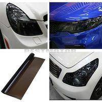 2014 real hot sale tail car styling details about nero 30x120cm pellicola adesiva per vetri fanali fari luci auto moto camion