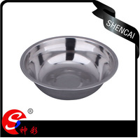22cm Eco-friendly Practical Stainless Steel Mixing Bowl / Soup Bowl