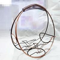 Fashion bronze wine rack wine rack blue sky Continental Iron