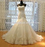 Free Shipping Worldwide Real sample sweetheart tulle lace mermaid wedding dress