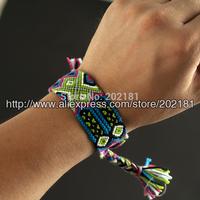 Free shipping Fashion jewelry handmade weave rope string CORTTON woven bracelet friendship bracelets