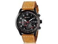 2014 Curren 8152 Quartz Mens Business Casual Car Dashboard Wrist Watches Black Silver Case Vogue watch