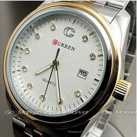 Curren man's mens quartz stainless steel Casual precision Auto date watch calendar Dropship, Brand Fashion watches Relogio