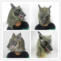 Creepy Wolf Mask Head Halloween / Christmas Costume Theater Prop Novelty Latex Rubber Wolf Head Mask