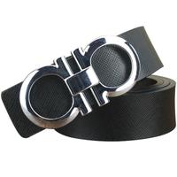 Man Genuine Leather belt Cowskin Belts for men Alloy Pin buckle 2 color Brand designer Cinturon M218 Cintos New arrival