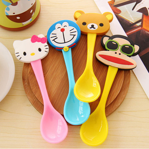 free shipping cute cartoon children spoon detachable baby spoon(China (Mainland))