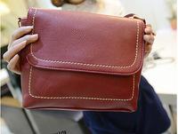 New arrival 2014 burgundy vintage women PU messenger bags