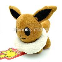 "Hot Sale Brown Pokemon/Pet Elf/Pokemon Plush Dolls 12 cm 5 ""Ibrahimovic PA03,Cute Stuffed Animals Dolls For Kids Free Shipping"